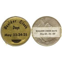 High Grade Sticker Dollar Boulder Creek California