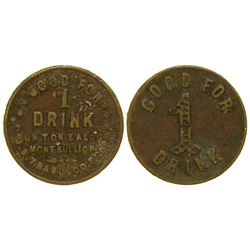 Bon Ton Saloon Token Mont Bullion California