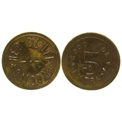 Red Bluff Saloon Token Red Bluff California