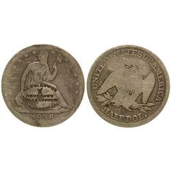 J.C. Polhemus Counterstamped Half Dollar Sacramento California