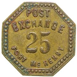 Post Exchange Token Fort McHenry Maryland