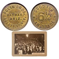Northern Saloon Photo/ Polin Brothers Token Goldfield Nevada
