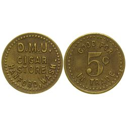 DMU Cigar Store Token Hanford Washington