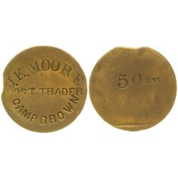J.K. Moore Post Trader Token Camp Brown Wyoming