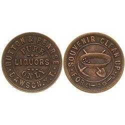 Pictoral Dawson Liquor Token Yukon Territory