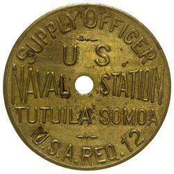 Naval Supply Officer Token Samoa