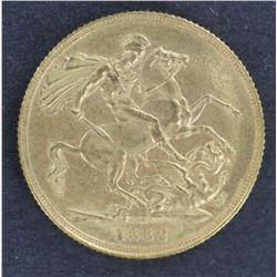 1882 Sydney Young Head Sovereign Uncirculated