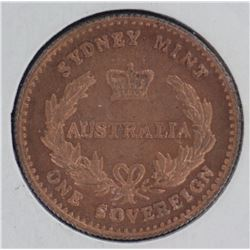 1855 Fantasy ½ Sovereign & Sov, Ex David Gee