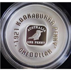 2001 Gilded Kookaburra 1 Ounce Coin