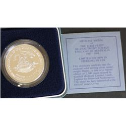 First Fleet Commemorative of Sailing, Proof 1 Ounce in Packaging of issue