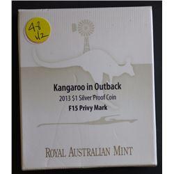 2003 $1 Kangaroo, 2013 Kangaroo in outback