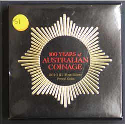 A100 Years of Australian Coins , proof in box of issue