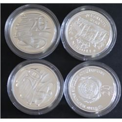 20c In Silver, 1991, 1998, 1938, UN, Proofs FDC
