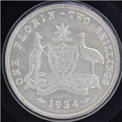 1934 Florin Uncirculated