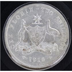 1918 Florin Nearly EF
