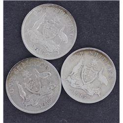 1915 Shilling , Fine
