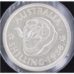 1938 Shilling Gem Unc