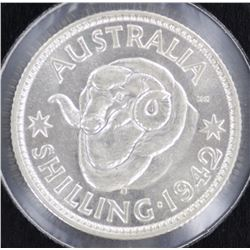 1942S Shilling Choice Uncirculaated