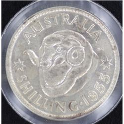 1955 Shilling Uncirculated
