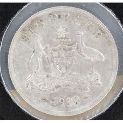 Australia 1910 Sixpence Extremely Fine