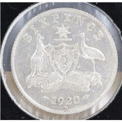 1920 Sixpence Extremely Fine