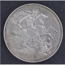 GB 1887 Crown good Very Fine