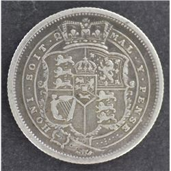 GB 1816 Shilling good VF, Cleaned