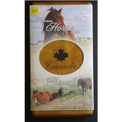 Canada Sable Horse & Foal in wooden Box of issue