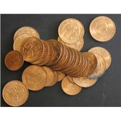 Cyprus 1956 5 Mils BU (25, 3 Mils 1955 (6)