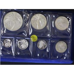 Western Samoa Sterling silver set 1 Siene to 1 Tala in push box of issue