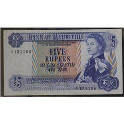 Mauritius 5 Rupees Unc