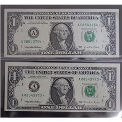 USA $1 Silver certificates Unc (2)