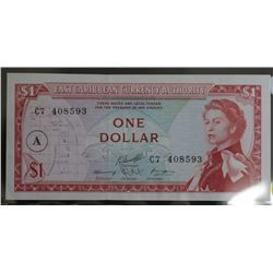 East Caribbean Currency authority $1 Uncirculated