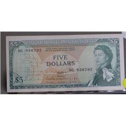 East Caribbean Territory $5