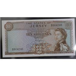 Jersey 10 Shillings Unc