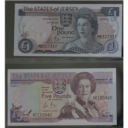 Jersey 1 Pound & 5 Pounds
