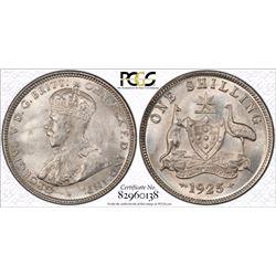 1925/23 Shilling PCGS  MS 65