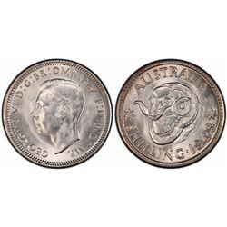 1943S Shilling PCGS  MS 64