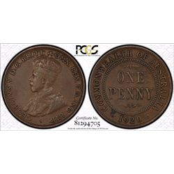 1920 Double Dot Penny PCGS VF 30