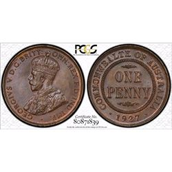 1927 Penny PCGS MS 65 Brown