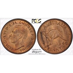 1946 Penny PCGS MS 64 Red Brown