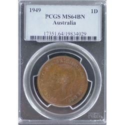 1949 Penny PCGS MS 64 BN