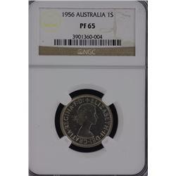 1956 Shilling NGC PR 65