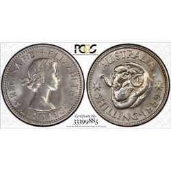 1959 Shilling PCGS PR 66