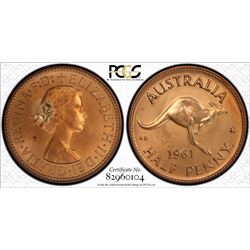1961 Perth Proof Pair PCGS  PR 64 Red