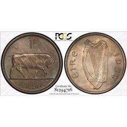 Ireland Shilling 1954 PCGS MS 65
