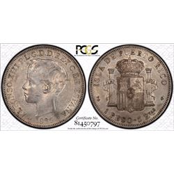 Puerto Rico Peso 1895 PG V PCGS AU 53