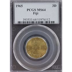 Fiji Threepence 1965 PCGS MS 64