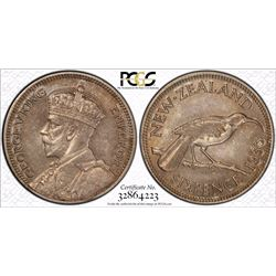 New Zealand Sixpence 1933 Pcgs ms 63