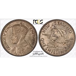 New Zealand Shilling 1934 PCGS MS 64